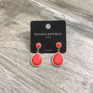 Banana Republic Coral Evening wear earrings.